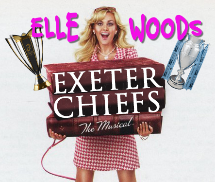 Exeter Chiefs as Elle Woods